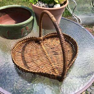Vintage Heart Shaped Basket